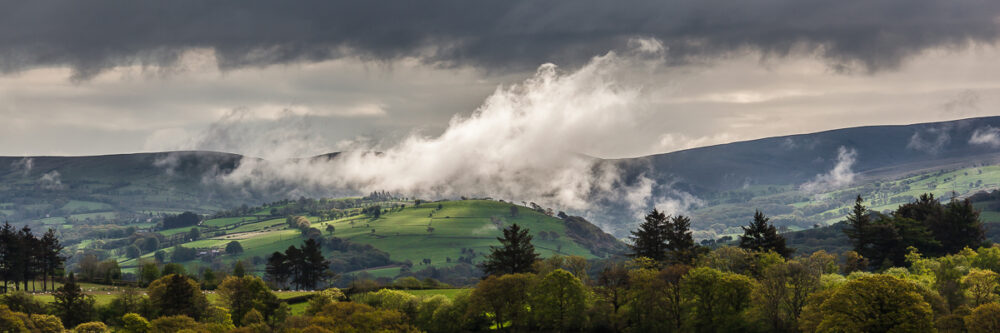 Morning mist above Gwynfe