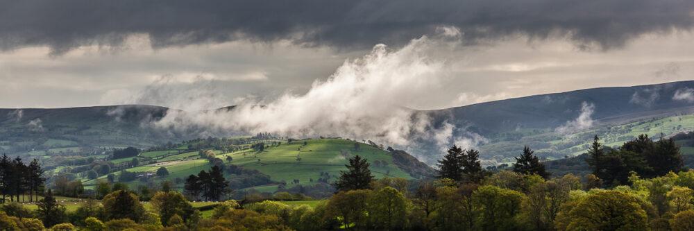 Morning mist above Gwynfe