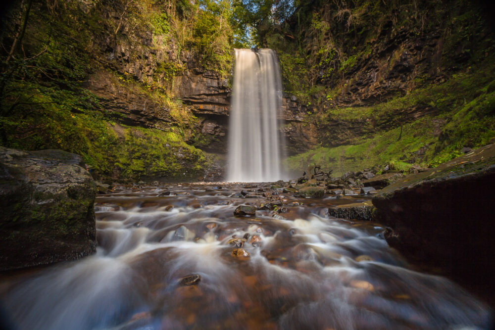 Henrhyd waterfall, waterfall country, brecon beacons, brecon beacons national park, photographer,