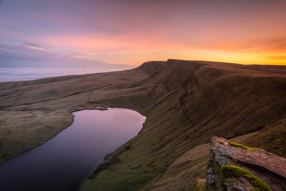 Llyn Y fan Fach sunrise in the Brecon Beacons